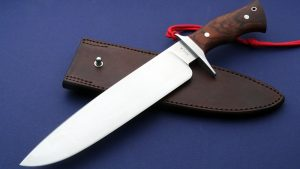 Lin Rhea Forged ABS Competition Cutter Custom Bowie World Champion Blade Show Master Smith