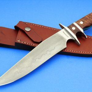 Tim Steingass Forged Battle Bowie Hamon Sub-Hilt Custom Knife