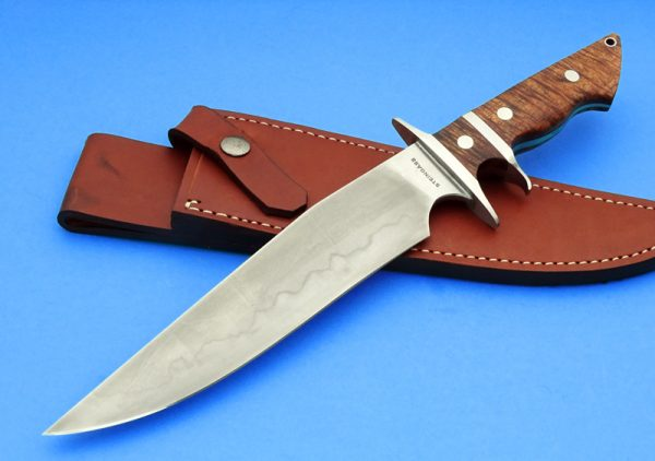 Tim Steingass Forged Battle Bowie Hamon Sub-Hilt Custom Knife