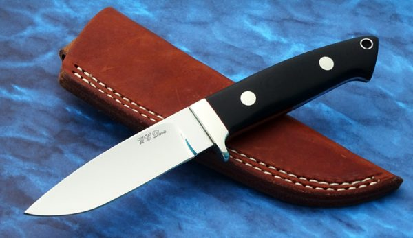 WC Davis Custom Drop Point Hunting Knife Studied under Bob Loveless