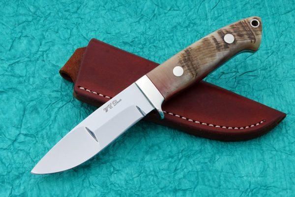 WC Davis Duplex Drop Point Hunter Sheep Horn Loveless design Custom Knife