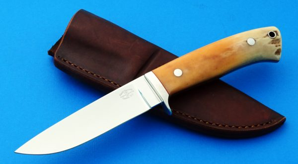 Geno Denning NM Drop Point Hunting knife Custom maker George Herron mentor
