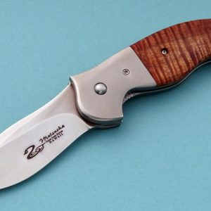 Scot Matsuoka from Hawaii Maka Presentation Folding Custom Knife Titanium Koa Flipper Opener