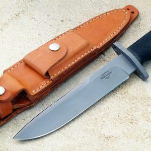 Bill Sanders F3 Tactical Fighter Custom Knife Timberline Original member Bead Blast