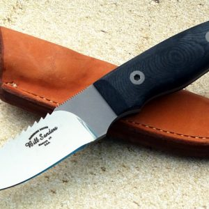 Bill Sanders S-1 Survival Drop Point Custom Hunting Knife Survival items inside the handle of the knife.