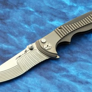 Brian Tighe Rade TActical Folding Knife STBS Titanium smooth light