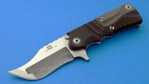 Mikkel Willumsen Custom Tactical Flipper Folder San Mai Urban Tactical Denmark Custom Knife Bead blast