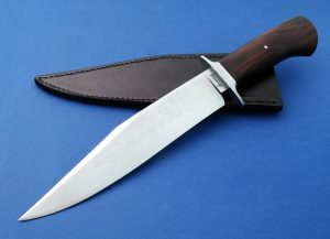 Matt Lamey Forged IC Bowie Custom Knife with Hamon Cocobolo handle lightweight