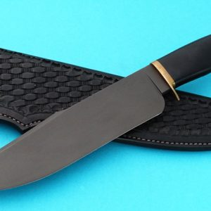 Jim Rodebaugh Forged Alaska Camp Knife Black Custom Knife