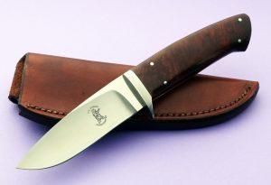 Russell Easler Drop Point Hunter Custom Knife full tapered tang