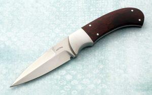 Ron Gaston Presentation Custom Knife Boot Dagger Desert Ironwood