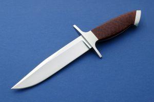 Billy Mace Imel Integral Custom Fighter Snakewood Art Knife Invitational Full tapered tang
