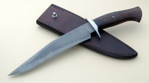 Tad Lynch forged Custom Fighter with Hamon and Desert Ironwood ABS Journeyman Smith