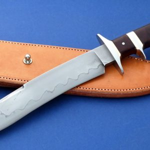 Brion Tomberlin Black Rapids Sub-Hilt Fighter Custom Knife Hamon Desert Ironwood