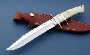 John Young Big Bear Presentation SubHilt Fighting Knife Ivory