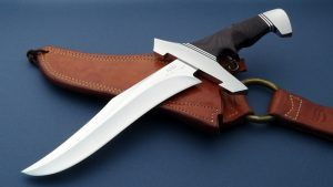 Rod Chappel Hunting Leopard Combat Bowie Custom Davis Knives Classic Collectible