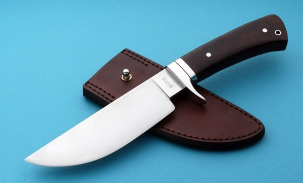 Mike Ruth Forged Trail Boss Hunting Knife Custom ABS Journeyman Smith Camp Hunter