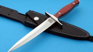 Walter Brend Presentation Dagger Custom Knife Double Edge Skull Crusher Full Tang TN logo