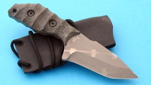 Duane Dwyer Cave Bear Tactical Boot Knife Bead Blasted