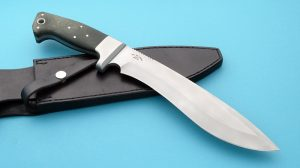 WC Johnson Recurve Bowie Tactical Custom Knife Hefty Bead Blasted Survival
