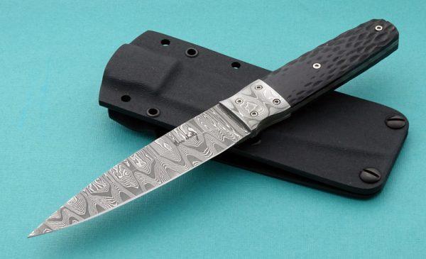Bud Nealy Custom Damascus Kinzhal Dagger Classic Full Tang