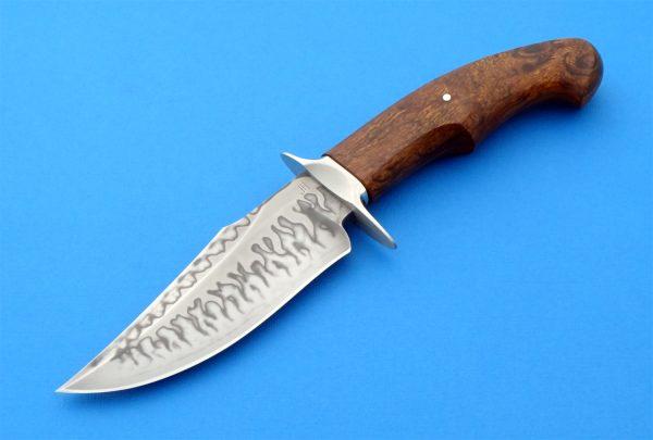 Hafinec custom forged double hamon hunter Slovakia knifemaker