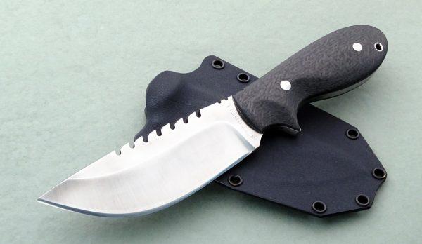 Mark Terrell Tactical Hunter with Serrations Custom Knife Prototype Fixed Blade